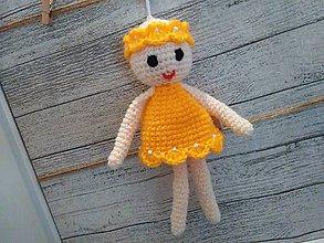 Dekorácie - anjelik - dekorácia 9 / capucino/žltý / - 7304009_