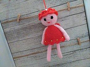 Dekorácie - anjelik - dekorácia 12 / červeno-rúžový/ - 7307232_