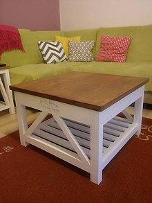 Nábytok - vintage konferenčný stolík - 7308709_