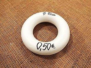 Polotovary - Polystyrenová tvarovka - Veniec - 15 cm - 7311542_