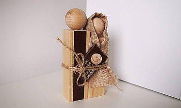 Dekorácie - Drevená dekorácia - Svätá rodina - 7311799_