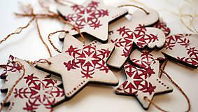 - Vianočné ozdoby drevo sada 6 ks - 7310027_