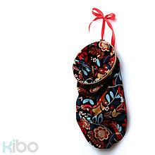 Úžitkový textil - KIBO black&flowers - 7309163_
