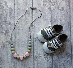 """Náhrdelníky - Silikónový náhrdelník na kojenie """"Olívia"""" - 7310493_"""