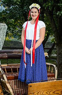 Sukne - FOLK suknička MODRÁ - 7312078_