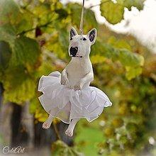 Dekorácie - Baletka Bulteriér - závesná dekorácia podľa fotografie - 7310296_