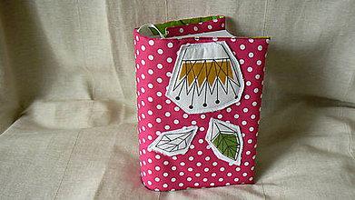 Úžitkový textil - Obal na knihu - Geodendrón - 7309909_