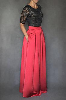 Sukne - Spoločenská skladaná sukňa s vreckami rôzne farb - 7310073_