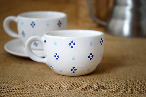 Šálek na cappuccino bíĺý 4puntík SMpuntík