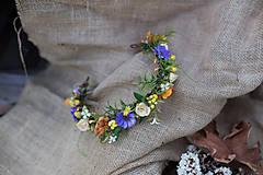 """Ozdoby do vlasov - Výpredaj z 28 eur Kvetinový polvenček """"čaro prežitých dní"""" - 7309149_"""