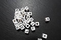 Korálky - Písmenká bieločierne 6x6 - 7308073_