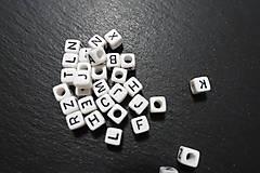 Korálky - Písmenká bieločierne 6x6 - 7308074_