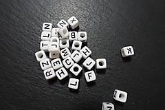 Korálky - Písmenká bieločierne 6x6 - 7308075_