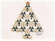 Dekorácie - Vianočný stromček Origami 3 - 7309365_