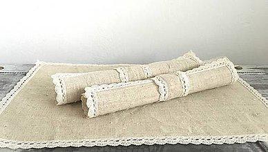 Úžitkový textil - Prestieranie z ručne tkaného ľanu 25x40 - 7311707_