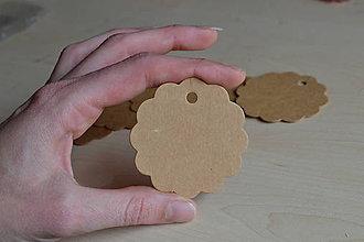 Papier - Visačky kvety 6cm, 0.95€/10ks - 7310472_