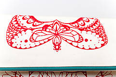 Kabelky - Motýlí se sítotiskem (širší) - 7315695_