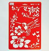 - Šablóna Meyco - 20x30 cm - kolibrík, ibištek, motýľ, kvety - 7315772_