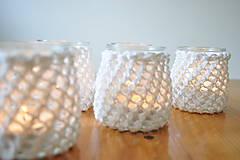 Svietidlá a sviečky - Svietnik na svadobný stôl - 7312977_