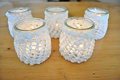 Svietidlá a sviečky - Svietnik na svadobný stôl - 7312979_