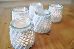 Svietidlá a sviečky - Svietnik na svadobný stôl - 7312980_