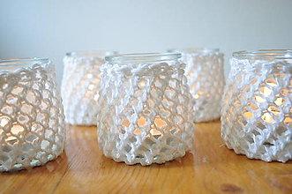 Svietidlá a sviečky - Svietnik na svadobný stôl - 7312978_