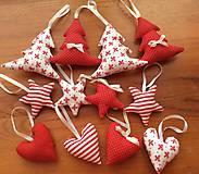 Dekorácie - Vianočné ozdoby - bielo - červené Vianoce - 7314410_