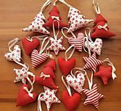 Dekorácie - Vianočné ozdoby - bielo - červené Vianoce - 7314411_
