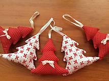 Dekorácie - Vianočné ozdoby - bielo - červené Vianoce - 7314412_