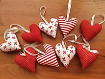 Dekorácie - Vianočné ozdoby - bielo - červené Vianoce - 7314414_