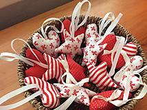 Dekorácie - Vianočné ozdoby - bielo - červené Vianoce - 7314415_