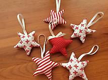 Dekorácie - Vianočné ozdoby - bielo - červené Vianoce - 7314416_