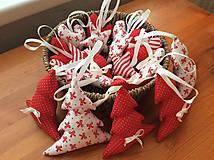 Dekorácie - Vianočné ozdoby - bielo - červené Vianoce - 7314417_