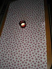 Úžitkový textil - Vianočná štóla so snehovými vločkami - 7314566_