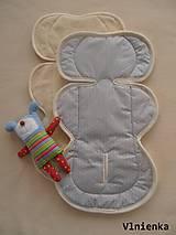 Textil - Poťah do autosedačky vajíčka MERINO 0-13kg obojstranný - 7314717_