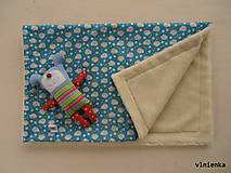 Úžitkový textil - Vlnená deka 100% merino Top super wash - 7316414_