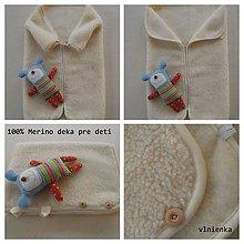 Textil - Deka pre bábätká 100% Merino Baranček - 7315606_