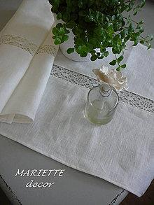 Úžitkový textil - lněný stolní běhoun 150x40cm - 7313813_
