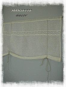 Úžitkový textil - NOVINKA lněná roletka bílá š.96xd.134cm - 7313823_