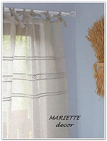 Úžitkový textil - lněná záclonka NATURAL š.140xd.160cm - 7313847_