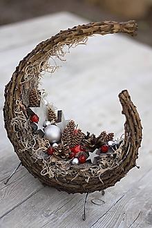 """Dekorácie - Vianočná prútěná """"Gondola"""" - 7314474_"""