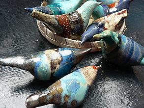 Dekorácie - Keramické ptactvo - 7313147_