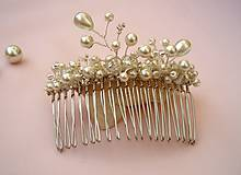 Ozdoby do vlasov - Ozdobný hrebienok - 7313756_