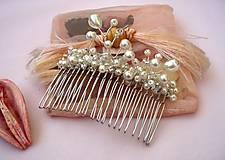 Ozdoby do vlasov - Ozdobný hrebienok - 7313936_