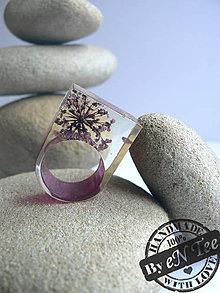Prstene - Prsteň z prírody - so sušenými kvetmi - 7314615_