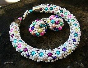 Sady šperkov - Sada COLORAMA WHITE - 7313570_