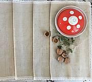 Úžitkový textil - Štóla z ručne tkaného ľanu 180x40 cm - 7314261_