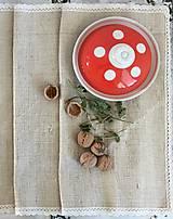 Úžitkový textil - Vidiecka štóla z ručne tkaného ľanu 140x40cm - 7314324_