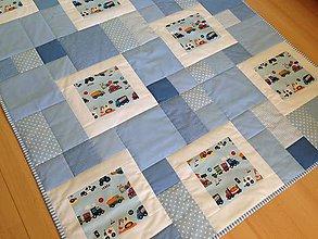 Úžitkový textil - Mozaiková deka s okienkami - 7313829_