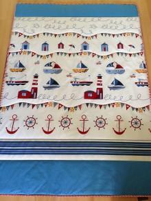 Úžitkový textil - Námornícka deka - 7313963_